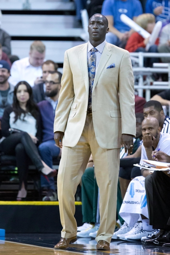 Nov 13, 2013; Salt Lake City, UT, USA; Utah Jazz head coach Tyrone Corbin during the first half against the New Orleans Pelicans at EnergySolutions Arena. Mandatory Credit: Russ Isabella-USA TODAY Sports