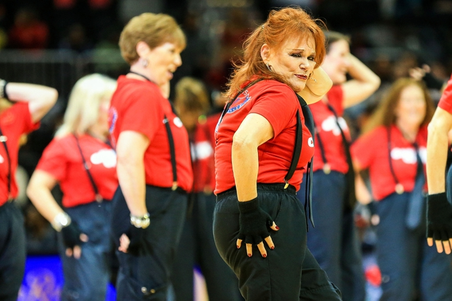 Nov 15, 2013; Atlanta, GA, USA; An ATL Classix Crew Dancer preforms during a time out in the first half between the Philadelphia 76ers and the Atlanta Hawks at Philips Arena. Mandatory Credit: Daniel Shirey-USA TODAY Sports