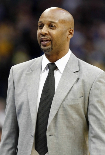 Nov 15, 2013; Denver, CO, USA; Denver Nuggets head coach Brian Shaw in the fourth quarter against the Minnesota Timberwolves at the Pepsi Center. The Nuggets won 117-113. Mandatory Credit: Isaiah J. Downing-USA TODAY Sports
