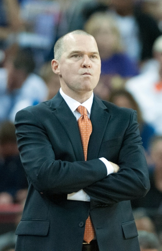 Nov 15, 2013; Sacramento, CA, USA; Sacramento Kings head coach Michael Malone reacts to a call during the fourth quarter of the game against the Detroit Pistons at Sleep Train Arena. The Detroit Pistons defeated the Sacramento Kings 97-90. Mandatory Credit: Ed Szczepanski-USA TODAY Sports