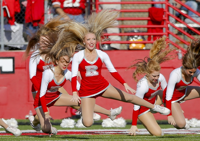 Nov 16, 2013; Piscataway, NJ, USA;  Rutgers Scarlet Knights dance team performs during the first half of game against the Cincinnati Bearcats at High Points Solutions Stadium. Mandatory Credit: Jim O'Connor-USA TODAY Sports