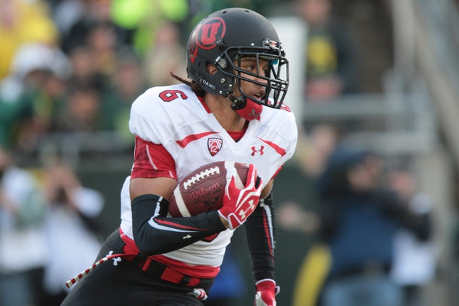 Nov 16, 2013; Eugene, OR, USA; Utah Utes wide receiver Dres Anderson (6) runs with the ball against the Oregon Ducks at Autzen Stadium. Mandatory Credit: Scott Olmos-USA TODAY Sports