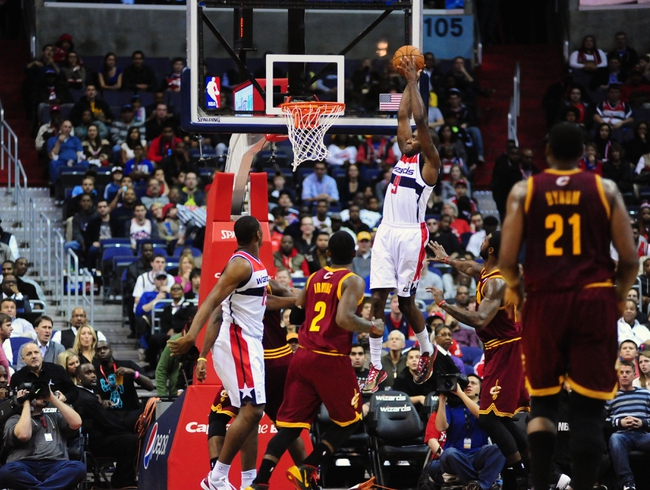 Nov 16, 2013; Washington, DC, USA; Washington Wizards forward Martell Webster (9) dunks the ball during the game against the Cleveland Cavaliers at Verizon Center. Mandatory Credit: Evan Habeeb-USA TODAY Sports