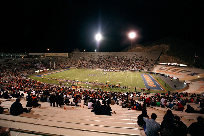 Nov 16, 2013; El Paso, TX, USA;  Seen is Sun Bowl Stadium as the UTEP Miners face the FIU Golden Panthers. Mandatory Credit: Ivan Pierre Aguirre-USA TODAY Sports