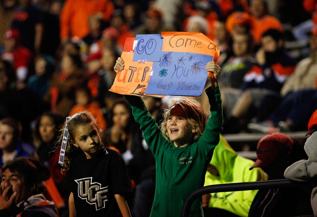 Nov 16, 2013; El Paso, TX, USA;  A UTEP fan holds a sign as the Miners face the FIU Golden Panthers at Sun Bowl Stadium. Mandatory Credit: Ivan Pierre Aguirre-USA TODAY Sports