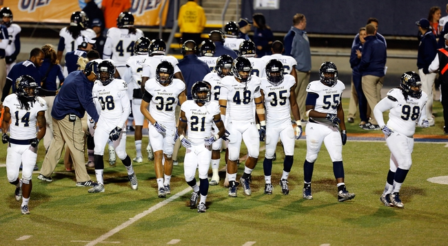 Nov 16, 2013; El Paso, TX, USA; The FIU Golden Panthers defense comes onto the field to face the UTEP Miners at Sun Bowl Stadium. Mandatory Credit: Ivan Pierre Aguirre-USA TODAY Sports