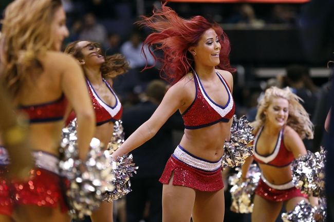 Nov 19, 2013; Washington, DC, USA; Washington Wizards Girls dance on the court during a stoppage in play against the Minnesota Timberwolves in the third quarter at Verizon Center. The Wizards won 104-100. Mandatory Credit: Geoff Burke-USA TODAY Sports