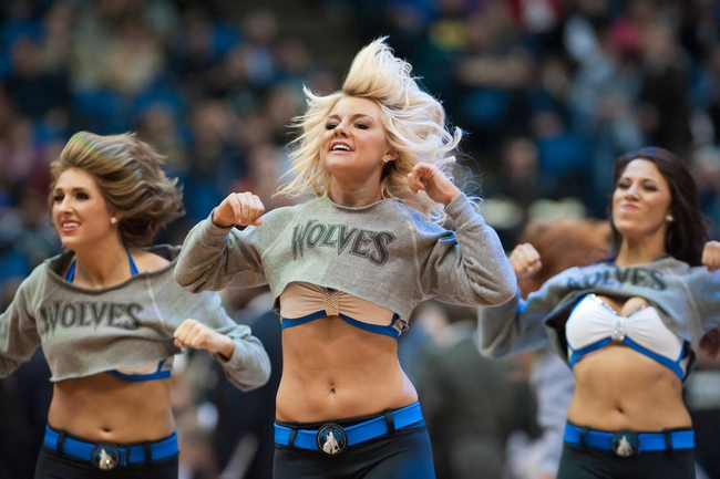 Nov 1, 2013; Minneapolis, MN, USA; Minnesota Timberwolves dancers entertain fans during the second quarter against the Oklahoma City Thunder at Target Center. Timberwolves won 100-81. Mandatory Credit: Greg Smith-USA TODAY Sports