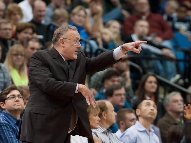 Nov 1, 2013; Minneapolis, MN, USA; Minnesota Timberwolves head coach Rick Adelman calls a play against the Oklahoma City Thunder in the second quarter at Target Center. Timberwolves won 100-81. Mandatory Credit: Greg Smith-USA TODAY Sports