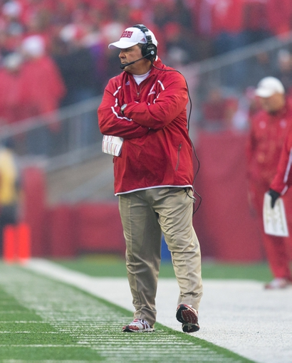 Nov 16, 2013; Madison, WI, USA; Indiana Hoosiers head coach Kevin Wilson during the game against the Wisconsin Badgers at Camp Randall Stadium. Wisconsin won 51-3.  Mandatory Credit: Jeff Hanisch-USA TODAY Sports