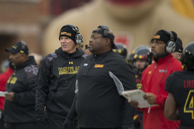 Nov 23, 2013; College Park, MD, USA;  Maryland Terrapins head coach Randy Edsall on the sidelines during the first half against the Boston College Eagles at Byrd Stadium. Mandatory Credit: Tommy Gilligan-USA TODAY Sports