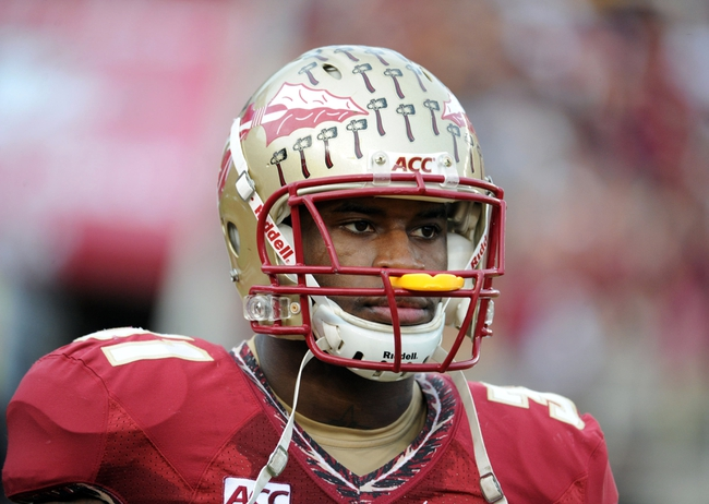 Nov 23, 2013; Tallahassee, FL, USA; Florida State Seminoles defensive back Terrence Brooks during the first half of the game against the Idaho Vandals at Doak Campbell Stadium. Mandatory Credit: Melina Vastola-USA TODAY Sports