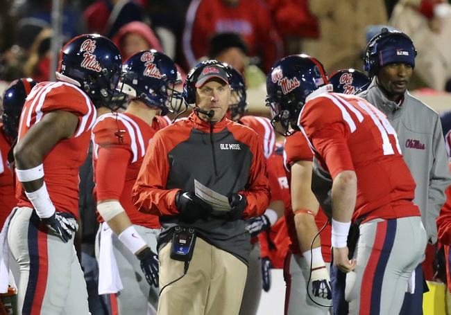 Nov 23, 2013; Oxford, MS, USA; Mississippi Rebels head coach Hugh Freeze during the game against the Missouri Tigers at Vaught-Hemingway Stadium. Mandatory Credit: Spruce Derden-USA TODAY Sports