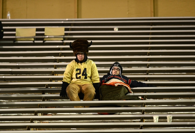 Nov 23, 2013; Boulder, CO, USA; General view of Colorado Buffaloes fans in the stands of Folsom Field during the fourth quarter against the Southern California Trojans. The Trojans defeated the Buffaloes 47-29. Mandatory Credit: Ron Chenoy-USA TODAY Sports