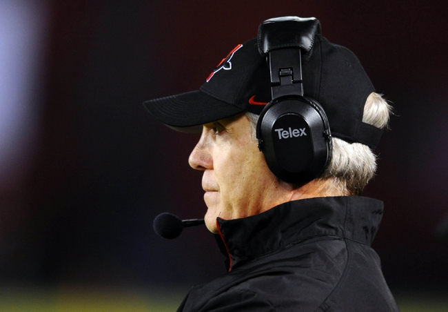 Nov 23, 2013; San Diego, CA, USA; San Diego State head coach Rocky Long during the second half against the Boise State Broncos at Qualcomm Stadium. Mandatory Credit: Christopher Hanewinckel-USA TODAY Sports