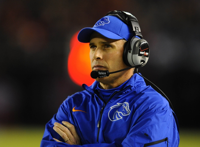 Nov 23, 2013; San Diego, CA, USA; Boise State Broncos head coach Chris Petersen during the first half against the San Diego State Aztecs at Qualcomm Stadium. Mandatory Credit: Christopher Hanewinckel-USA TODAY Sports