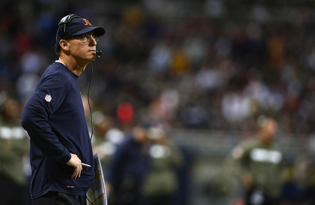 Nov 24, 2013; St. Louis, MO, USA; Chicago Bears head coach Marc Trestman looks on during the second half against the St. Louis Rams at the Edward Jones Dome. St. Louis defeated Chicago 42-21. Mandatory Credit: Jeff Curry-USA TODAY Sports