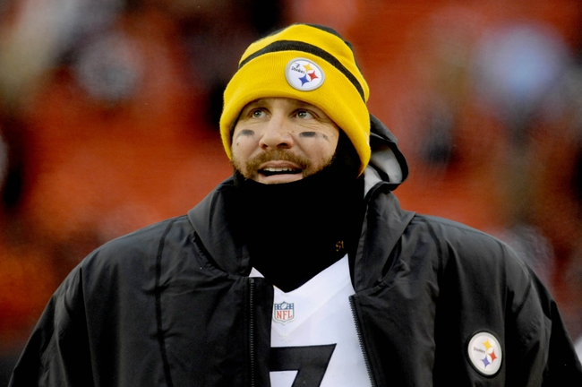 Nov 24, 2013; Cleveland, OH, USA; Pittsburgh Steelers quarterback Ben Roethlisberger (7) stands on the sideline against the Cleveland Browns at FirstEnergy Stadium. Mandatory Credit: Ken Blaze-USA TODAY Sports