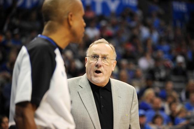 Dec 1, 2013; Oklahoma City, OK, USA; Minnesota Timberwolves head coach Rick Adelman reacts to a call in action against the Minnesota Timberwolves at Chesapeake Energy Arena. Mandatory Credit: Mark D. Smith-USA TODAY Sports