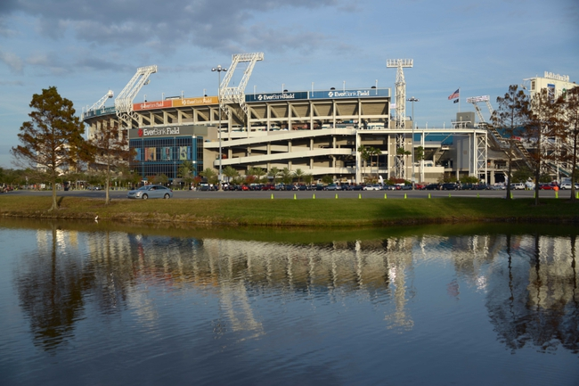 Dec 5, 2013; Jacksonville, FL, USA; General view of EverBank Field before the NFL game between the Houston Texans and the Jacksonville Jaguars. Mandatory Credit: Kirby Lee-USA TODAY Sports