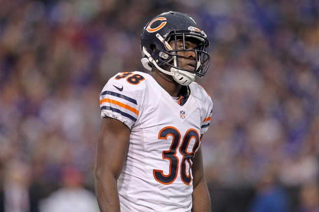Dec 1, 2013; Minneapolis, MN, USA; Chicago Bears cornerback Zack Bowman (38) against the Minnesota Vikings at Mall of America Field at H.H.H. Metrodome. The Vikings defeated the Bears 23-20 in overtime. Mandatory Credit: Brace Hemmelgarn-USA TODAY Sports