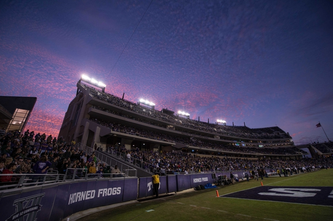 Nov 30, 2013; Fort Worth, TX, USA; A view of the stadium during the game between the TCU Horned Frogs and the Baylor Bears at Amon G. Carter Stadium. The Bears defeated the Horned Frogs 41-38. Mandatory Credit: Jerome Miron-USA TODAY Sports