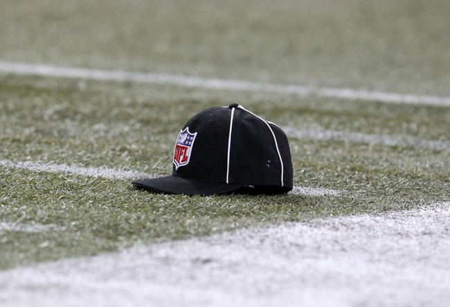 Dec 1, 2013; Toronto, ON, Canada; A general view of a referees hat on the filed during a game between the Buffalo Bills and the Atlanta Falcons at the Rogers Center. Mandatory Credit: Timothy T. Ludwig-USA TODAY Sports