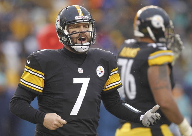 Dec 8, 2013; Pittsburgh, PA, USA; Pittsburgh Steelers quarterback Ben Roethlisberger (7) reacts on the field against the Miami Dolphins during the fourth quarter at Heinz Field. The Miami Dolphins won 34-28. Mandatory Credit: Charles LeClaire-USA TODAY Sports