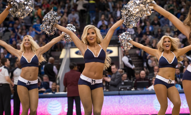 Nov 30, 2013; Dallas, TX, USA; The Dallas Mavericks dancers perform during a timeout in the game between the Mavericks and the Minnesota Timberwolves during the game at the American Airlines Center. The Timberwolves defeated the Mavericks 112-106. Mandatory Credit: Jerome Miron-USA TODAY Sports