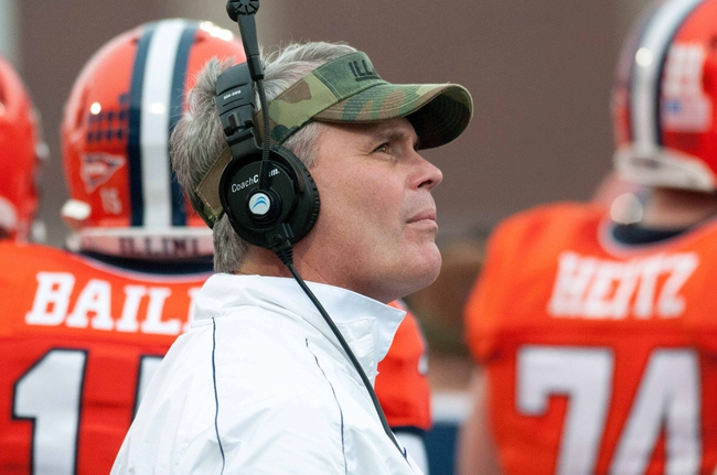 Nov 16, 2013; Champaign, IL, USA;  Illinois Fighting Illini head coach Tim Beckman during the game against the Ohio State Buckeyes at Memorial Stadium. Mandatory Credit: Bradley Leeb-USA TODAY Sports
