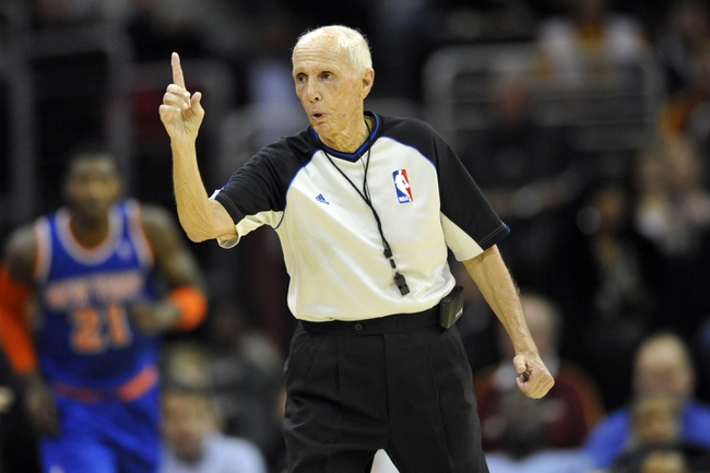 Dec 10, 2013; Cleveland, OH, USA; NBA referee Dick Bavetta during a game between the Cleveland Cavaliers and the New York Knicks at Quicken Loans Arena. Mandatory Credit: David Richard-USA TODAY Sports