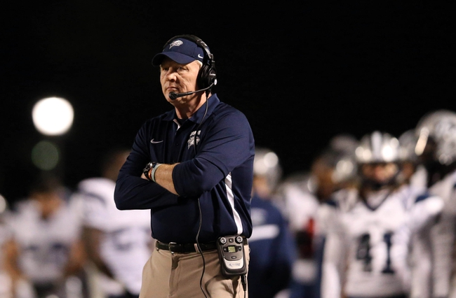 Dec 14, 2013; Hammond, LA, USA; New Hampshire Wildcats head coach Sean McDonnell watches during the second half against the Southeastern Louisiana Lions at Strawberry Stadium. New Hampshire defeated Southeastern Louisiana 20-17. Mandatory Credit: Crystal LoGiudice-USA TODAY Sports