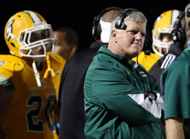 Dec 14, 2013; Hammond, LA, USA; Southeastern Louisiana Lions watches in the second half against the New Hampshire Wildcats at Strawberry Stadium. New Hampshire defeated Southeastern Louisiana 20-17. Mandatory Credit: Crystal LoGiudice-USA TODAY Sports