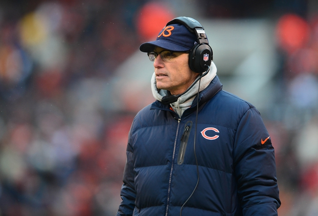 Dec 15, 2013; Cleveland, OH, USA; Chicago Bears head coach Marc Trestman on the sidelines during the third quarter against the Cleveland Browns at FirstEnergy Stadium. Mandatory Credit: Andrew Weber-USA TODAY Sports