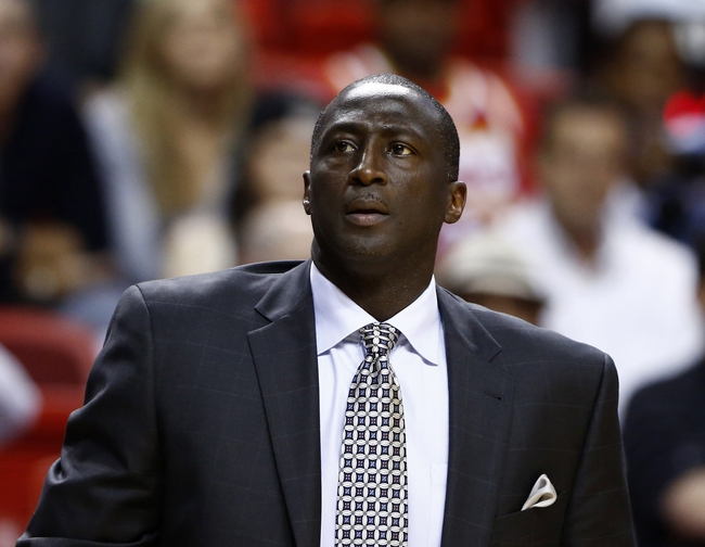 Dec 16, 2013; Miami, FL, USA; Utah Jazz head coach Tyrone Corbin in the first half of a game against the Miami Heat at American Airlines Arena. Mandatory Credit: Robert Mayer-USA TODAY Sports