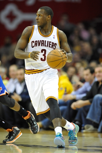 Dec 10, 2013; Cleveland, OH, USA; Cleveland Cavaliers shooting guard Dion Waiters dribbles against the New York Knicks at Quicken Loans Arena. Cleveland won 109-94. Mandatory Credit: David Richard-USA TODAY Sports