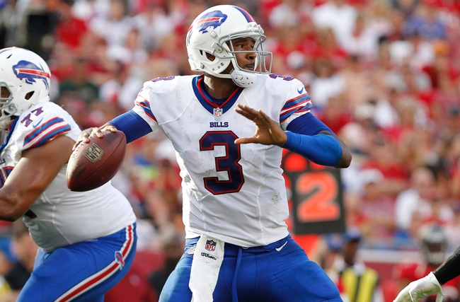 Dec 8, 2013; Tampa, FL, USA; Buffalo Bills quarterback EJ Manuel (3) throws the ball against the Tampa Bay Buccaneers during the second half at Raymond James Stadium. Tampa Bay Buccaneers defeated the Buffalo Bills 27-6. Mandatory Credit: Kim Klement-USA TODAY Sports