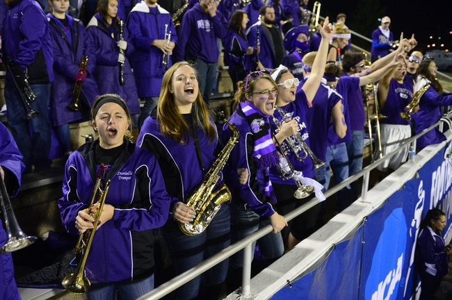 Dec 20, 2013; Salem, VA, USA; UW-Whitewater band members cheer in the second half. UW-Whitewater defeated Mount Union Purple Raiders 52-14 at Salem Stadium. Mandatory Credit: Bob Donnan-USA TODAY Sports