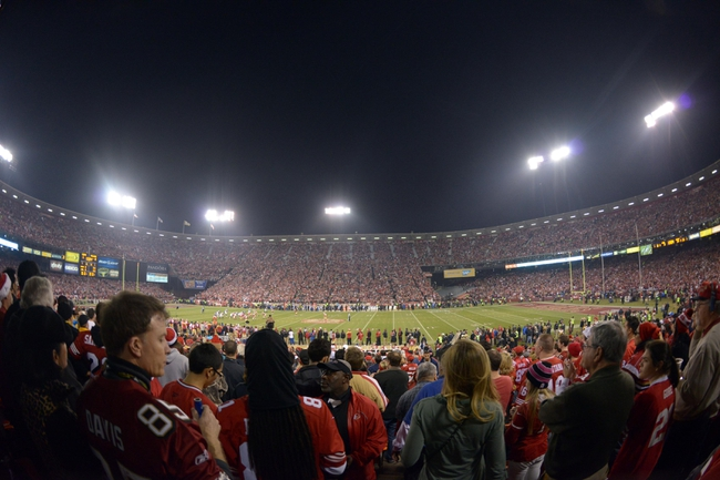 Dec 23, 2013; San Francisco, CA, USA; General view of the final regular season game at Candlestick Park between the Atlanta Falcons and the San Francisco 49ers. Mandatory Credit: Kirby Lee-USA TODAY Sports