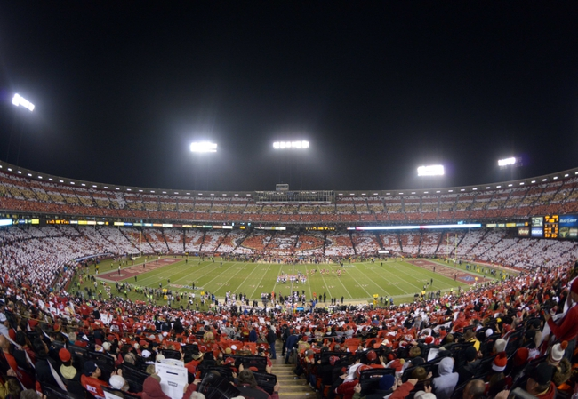Dec 23, 2013; San Francisco, CA, USA; General view of the card stunt during the final regular season game at Candlestick Park between the Atlanta Falcons and San Francisco 49ers. Mandatory Credit: Kirby Lee-USA TODAY Sports