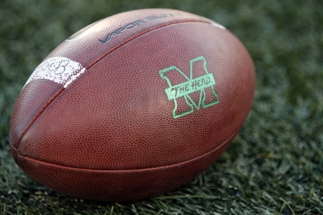 Dec 27, 2013; Annapolis, MD, USA; A ball rest on the field prior to the game between the Marshall Thundering Herd and the Maryland Terrapins during the 2013 Military Bowl at Navy Marine Corps Memorial Stadium. Mandatory Credit: Geoff Burke-USA TODAY Sports