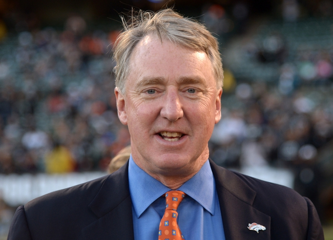 Dec 29, 2013; Oakland, CA, USA; Denver Broncos president Joe Ellis during the game against the Oakland Raiders at O.co Coliseum. Mandatory Credit: Kirby Lee-USA TODAY Sports