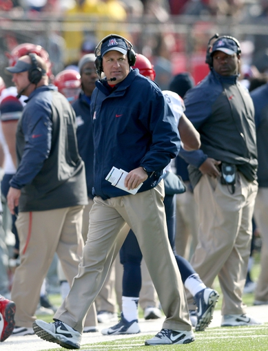 Dec 31, 2013; Shreveport, LA, USA; Arizona Wildcats head coach Rich Rodriguez in the second half against the Boston College Eagles at Independence Stadium. Arizona defeated Boston College 42-19. Mandatory Credit: Crystal LoGiudice-USA TODAY Sports