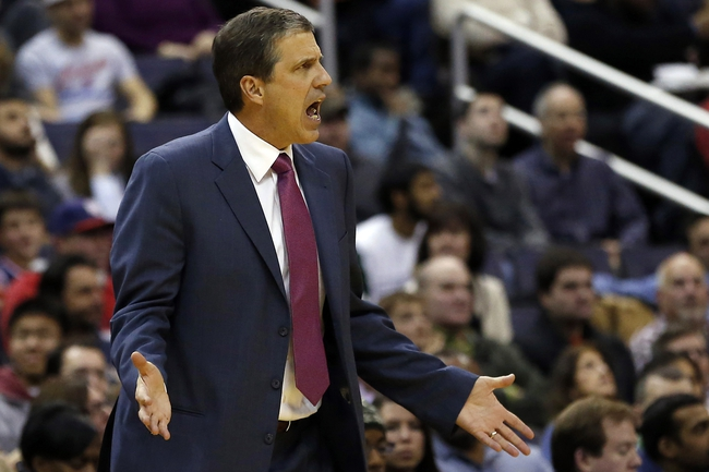 Jan 1, 2014; Washington, DC, USA;  Washington Wizards head coach Randy Wittman yells from the sidelines against the Dallas Mavericks in the third quarter at Verizon Center. The Mavericks won 87-78. Mandatory Credit: Geoff Burke-USA TODAY Sports