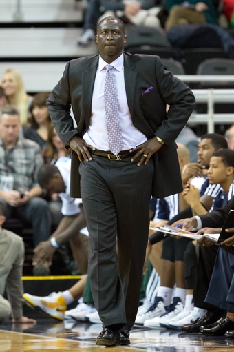 Jan 2, 2014; Salt Lake City, UT, USA; Utah Jazz head coach Tyrone Corbin during the first half against the Milwaukee Bucks at EnergySolutions Arena. Mandatory Credit: Russ Isabella-USA TODAY Sports