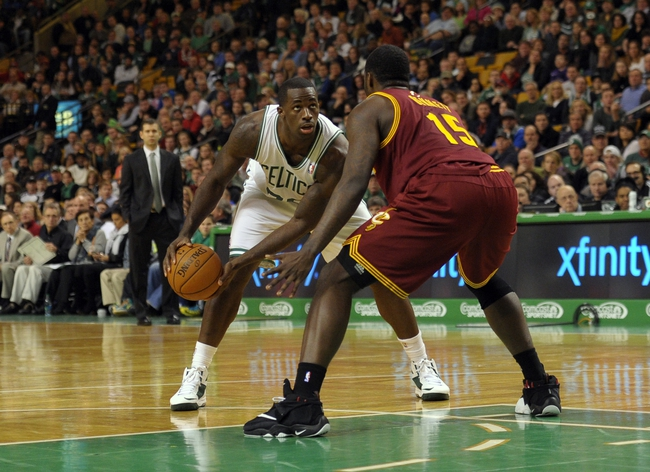 Dec 28, 2013; Boston, MA, USA; Cleveland Cavaliers small forward Anthony Bennett (15) guards Boston Celtics power forward Brandon Bass (30) during the second half at TD Garden. Mandatory Credit: Bob DeChiara-USA TODAY Sports