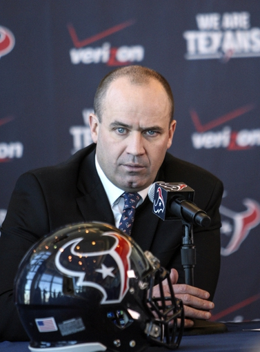 Jan 3, 2014; Houston, TX, USA; Bill O'Brien is announced as the Houston Texans new head coach during a press conference at Reliant Stadium. Mandatory Credit: Troy Taormina-USA TODAY Sports