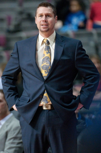 Jan 5, 2014; Auburn Hills, MI, USA; Memphis Grizzlies head coach David Joerger stands on the sidelines during the third quarter against the Detroit Pistons at The Palace of Auburn Hills. The Grizzlies won 112-84. Mandatory Credit: Tim Fuller-USA TODAY Sports