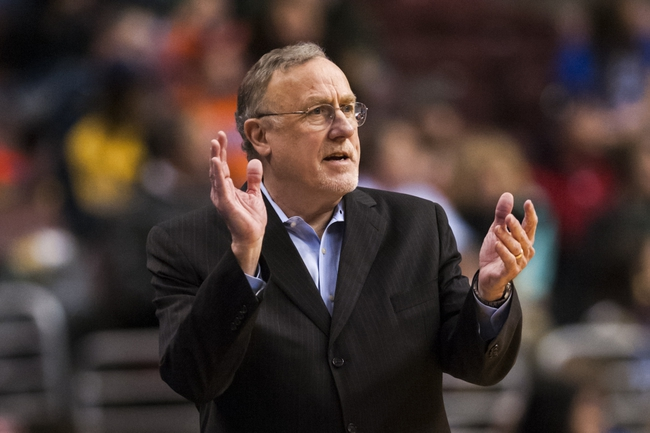 Jan 6, 2014; Philadelphia, PA, USA; Minnesota Timberwolves head coach Rick Adelman during the third quarter against the Philadelphia 76ers at the Wells Fargo Center. The Timberwolves defeated the Sixers 126-95. Mandatory Credit: Howard Smith-USA TODAY Sports