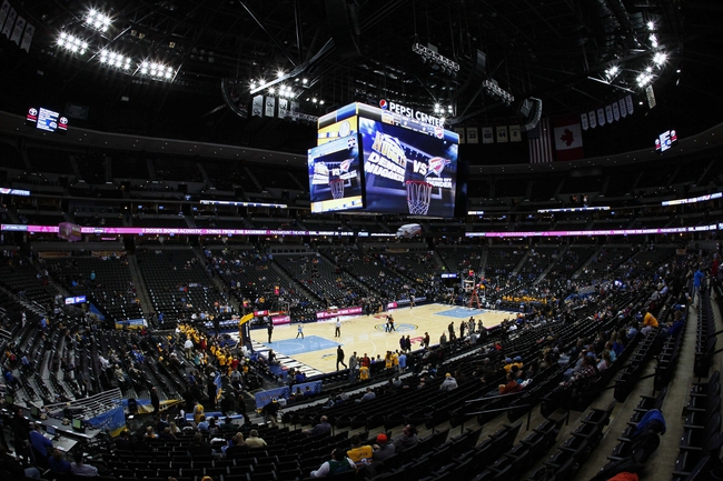 Jan 9, 2014; Denver, CO, USA;  A general view of the Pepsi Center before the start of the game between the Oklahoma City Thunder and the Denver Nuggets. Mandatory Credit: Isaiah J. Downing-USA TODAY Sports